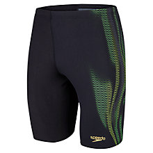 Buy Speedo Men's LZR Placement Jammers, Black/Green/Yellow Online at johnlewis.com