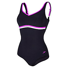 Buy Speedo Sculpture Contourluxe One Piece Swimsuit, Black/Purple Online at johnlewis.com