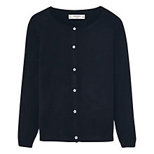 Buy Mango Kids Girls' Star Button Cardigan, Black Online at johnlewis.com