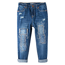 Buy Mango Kids Girls' Ikat Jeans, Blue Online at johnlewis.com