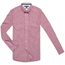 Buy Tommy Hilfiger North Stripe Shirt, Chilli Pepper/White Online at johnlewis.com
