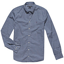 Buy Tommy Hilfiger Geo Tile Shirt, Dutch Navy/Classic White Online at johnlewis.com
