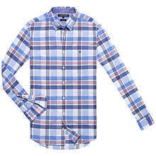 Buy Tommy Hilfiger Bay Check Shirt, Twilight Blue/Tomato/White Online at johnlewis.com