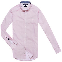 Buy Tommy Hilfiger Nylan Print Shirt, Chilli Pepper/Classic White Online at johnlewis.com