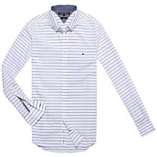Buy Tommy Hilfiger Open Hor Stripe Shirt, Black/White Online at johnlewis.com