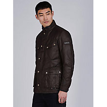 Buy Barbour Duke Wax Jacket, Rustic Online at johnlewis.com