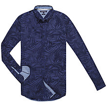 Buy Tommy Hilfiger Large Palm Leaf Shirt, Navy Blazer Online at johnlewis.com