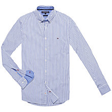 Buy Tommy Hilfiger Faybe Stripe Shirt, Shirt Blue/Dutch Navy/Classic White Online at johnlewis.com