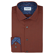 Buy Duchamp 3D Texture Tailored Fit Shirt, Orange Online at johnlewis.com