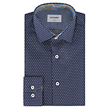 Buy Duchamp Spot Contrast Slim Fit Shirt, Smalt Online at johnlewis.com