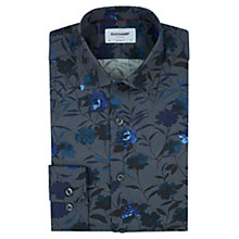 Buy Duchamp Dark Floral Print Slim Fit Shirt, Grey Online at johnlewis.com