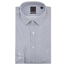 Buy CK Calvin Klein Rome Fitted Cross Print Shirt, Navy/White Online at johnlewis.com