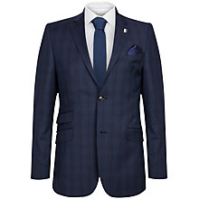 Buy Ted Baker Regsqu Check Tailored Fit Suit Jacket, Purple Online at johnlewis.com