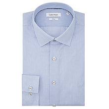 Buy Calvin Klein Fine Stripe Tailored Fit Shirt, Blue/White Online at johnlewis.com
