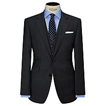 Buy John Lewis Super 100s Wool Glen Check Tailored Suit Jacket, Grey Online at johnlewis.com