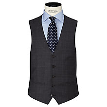 Buy John Lewis Super 100s Wool Glen Check Tailored Waistcoat, Grey Online at johnlewis.com