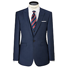 Buy John Lewis Super 100s Wool Pindot Tailored Suit Jacket, French Blue Online at johnlewis.com