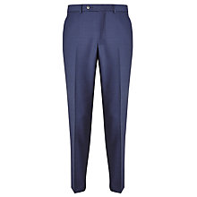 Buy John Lewis Melange Super 100s Wool Tailored Suit Trousers, Royal Blue Online at johnlewis.com