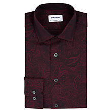 Buy Duchamp Paisley Jacquard Tailored Fit Shirt, Burgundy Online at johnlewis.com