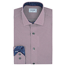 Buy Duchamp Spot Print Slim Fit Shirt, Purple Online at johnlewis.com
