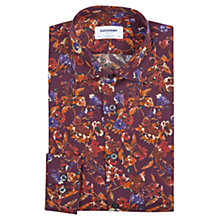 Buy Duchamp Winter Floral Tailored Fit Shirt, Plum Online at johnlewis.com