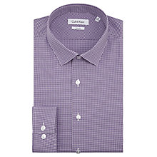 Buy CK Calvin Klein Gingham Slim Fit Shirt, Purple/White Online at johnlewis.com