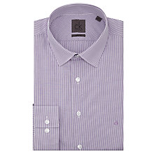 Buy Calvin Klein Stripe Slim Fit Shirt, Purple/White Online at johnlewis.com