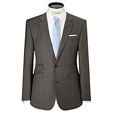Buy John Lewis Super 100s Prince of Wales Check Tailored Suit Jacket, Taupe Online at johnlewis.com
