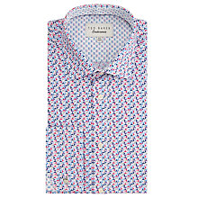 Buy Ted Baker Qasim Triangle Print Shirt, Purple Online at johnlewis.com