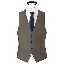Buy Kin by John Lewis Kroft Plainweave Slim Fit Waistcoat, Biscuit Online at johnlewis.com