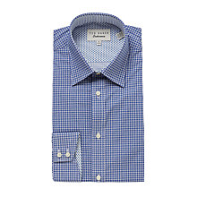 Buy Ted Baker Saburo Cross Geo Tailored Fit Shirt, Navy/White Online at johnlewis.com