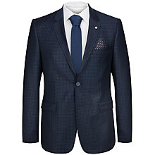 Buy Ted Baker Hopskij Micro Check Modern Fit Suit Jacket, Teal Online at johnlewis.com