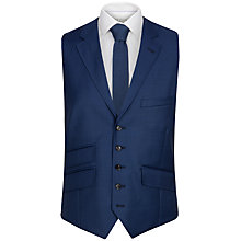 Buy Ted Baker Regmarw Wool Tailored Waistcoat, Blue Online at johnlewis.com