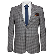 Buy Ted Baker Tench Check Tailored Fit Suit Jacket, Grey Online at johnlewis.com