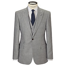 Buy JOHN LEWIS & Co. Whitehorn Wool Linen Basketweave Tailored Suit Jacket, Grey Online at johnlewis.com