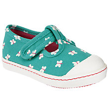 Buy John Lewis Children's Tilly T-Bar Shoes, Green Online at johnlewis.com