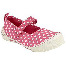 Buy John Lewis Children's Daisy Spot Rip-Tape Shoes, Red Multi Online at johnlewis.com