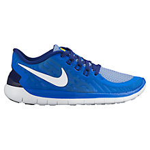 Buy Nike Children's Free 5.0 Running Shoes, Blue Online at johnlewis.com