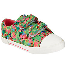 Buy John Lewis Children's Ellie Tropical Rip-Tape Trainers, Multi Online at johnlewis.com