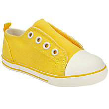 Buy John Lewis Children's Coco Eyelet Shoes, Yellow Online at johnlewis.com