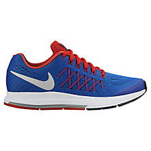 Buy Nike Children's Air Zoom Pegasus 32 Running Shoes, Blue/Red Online at johnlewis.com