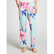 Buy Joules Erin Rose Floral Pyjama Pants, Aqua Online at johnlewis.com