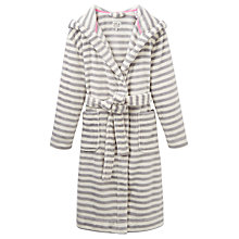 Buy Joules Rita Stripe Robe, Grey Online at johnlewis.com