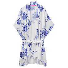 Buy Joules Clara Floral Robe, White/Blue Online at johnlewis.com