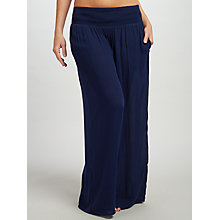 Buy John Lewis Wide Leg Trousers, Navy Online at johnlewis.com