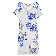 Buy Joules Florian Floral Nightdress, White/Blue Online at johnlewis.com