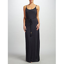 Buy John Lewis Tie Waist Maxi Dress, Black Online at johnlewis.com