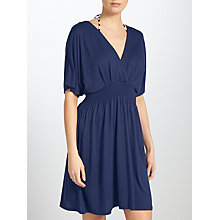 Buy John Lewis V-Neck Kimono Sleeve Dress, Navy Online at johnlewis.com