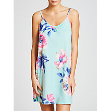 Buy Joules Cherie Rose Floral Chemise, Aqua Online at johnlewis.com
