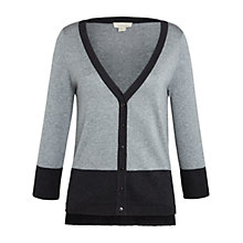 Buy Celuu Zara Colour Block Cardigan, Grey Online at johnlewis.com
